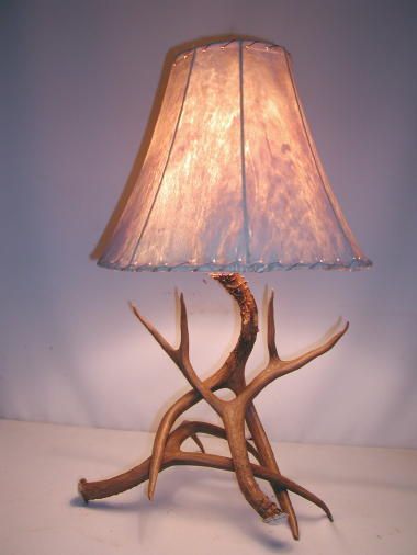 antler floor lamps antler table lamps and rawhide shades