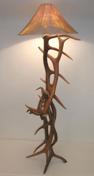 Click To Enlarge. Elk Antler Floor Lamp ...